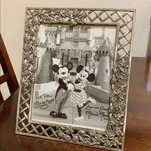 Mickey and Minnie picture with glass frame